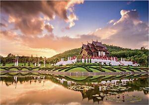 """Puzzles 2000 pieces 96*68 cm """"Thailand Chiang Mai Royal park"""" Step Puzzle 84036."""
