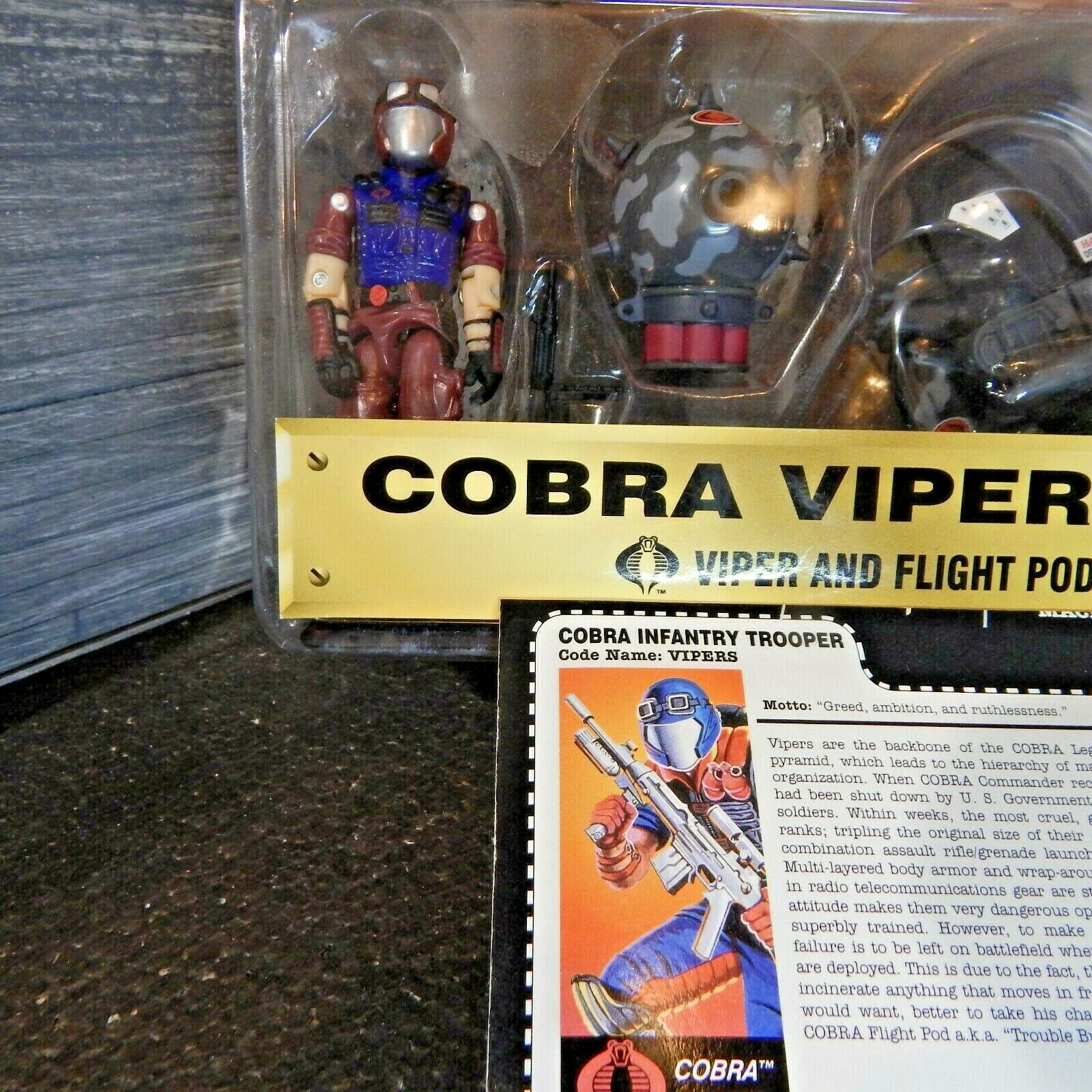 GI JOE  1997 COBRA VIPER &  Flumière POD  VIPER TEAM  100% complete & voitureD  les promotions