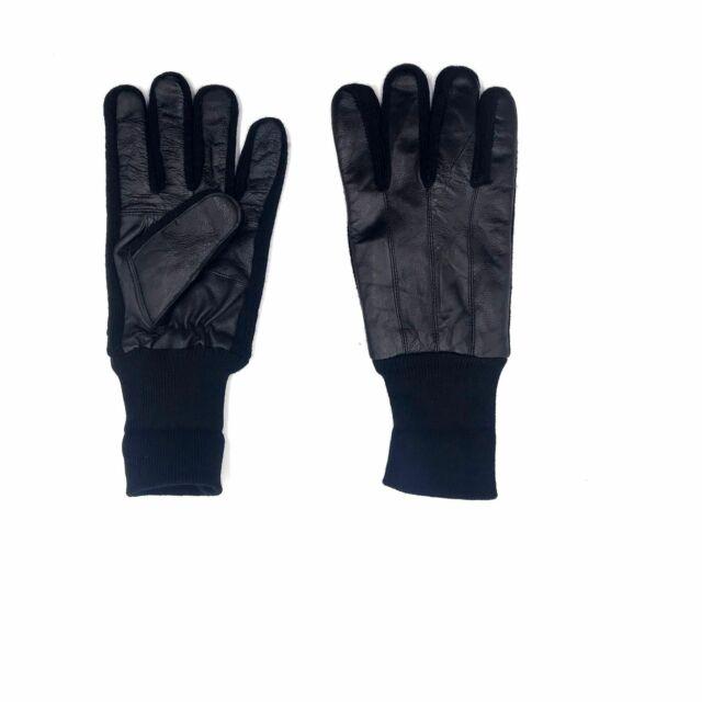 Men/'s Gloves warm Black leather Gloves Size XXL Leather Gloves Winter gloves