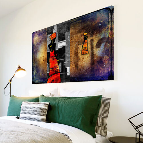 AB557 Orange African Style Modern Abstract Canvas Wall Art Large Picture Prints