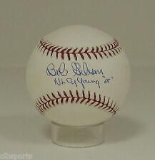 "Balls Bob Gibson Signed Mlb Baseball W/ ""2x Cy Young"" Insc. Autographs-original"