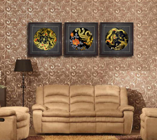 Grace Art® Large Asian Silk Embroidery Art Wall Hanging