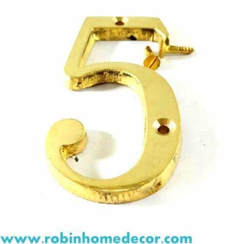 """50MM Decoración del hogar 2/"""" números de puerta de latón altura 0,1,2,3,4,5,6,7,8,9 con Tornillos"""