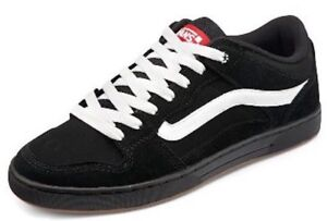 f708fe0b66 VANS (BAXTER) BLACK WHITE GUM SUEDE SKATE SHOES SZ 9.5 MENS NEW NIB ...