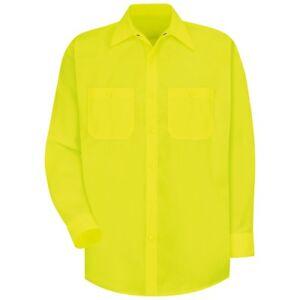 Image is loading Red-Kap-Mens-Long-Sleeve-Industrial-Work-Shirt- 009c27b86