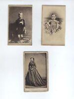 FANTASTIC!!! BALL THOMAS 19TH CENTURY AFRICAN AMERICAN ARTIST THREE CDV PHOTOS