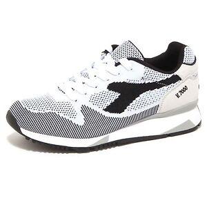 5222P sneaker DIADORA V7000 WEAVE nero scarpa uomo shoe men