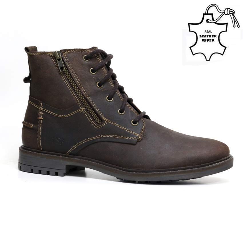 Para hombres Cuero botas De Combate Militar Ejército Formal Inteligente Nuevo botas al Tobillo Zapatos Talla