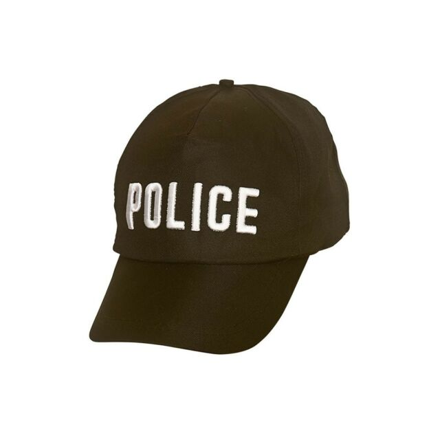 Felt Black Policewoman Hat New York Cop Copper Fancy Dress Cap Hat