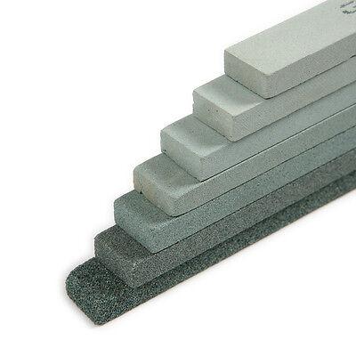 6xGrit 80-1000 Silicon Carbide Sharpening Polishing Grinding Whetstone Oil Stone