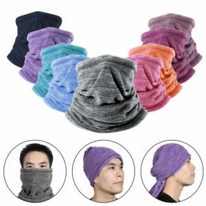 Winter Sports Fleece Thermal Neck Warmer Gaiter Face Mask Snood Hat Scarf USA