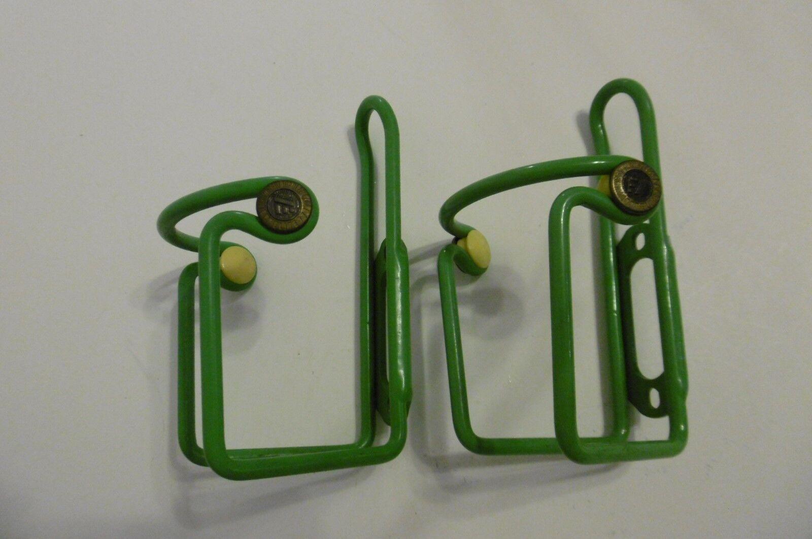 Elite Ciussi Alu Bottle Cages  1 Pair Green NOS