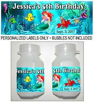 30 Little Mermaid Ariel Birthday Party Favors Bubble Labels