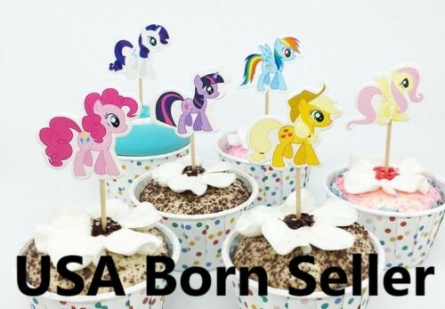 12 Pieces Cupcake Topper Cake Picks horse MY LITTLE PONY