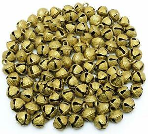 Vintage Set of 100 Pieces size 10 mm Brass Ghunghroo Bells