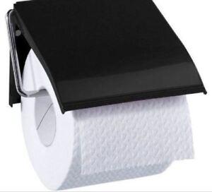 1-x-Blue-Canyon-Retro-Bathroom-Loo-Toilet-Roll-Holder-Wall-Mounted-Metal-Black