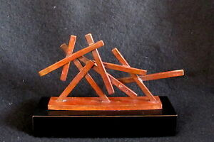 Cast-Bronze-034-Mini-Monument-034-by-New-York-Artist-Seena-Donneson-Abstract-Sculpture