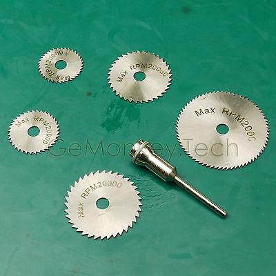 6PCS Mini HSS Rotary Tool Saw Disc Set Wheel Blade