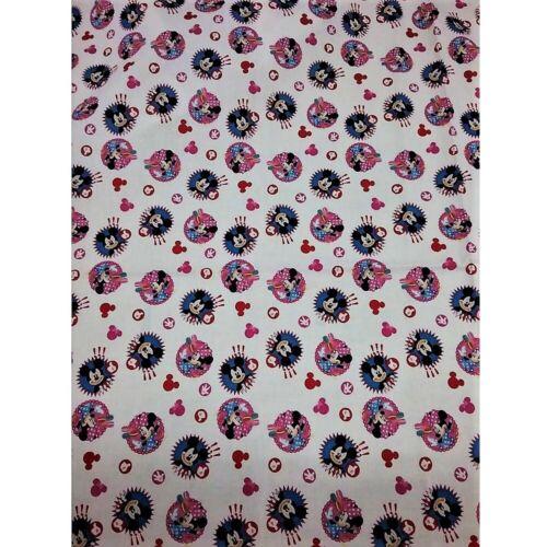 Tessuto cotone stampa mini topolino e minnie alto 150 cm 6004
