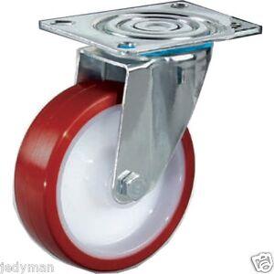 ruote per carrelli in nylon poliuretano con staffa rotante inox p ebay