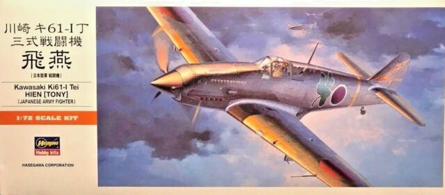 "1/72 WW2 Fighter :Kawasaki Ki-61-I Hein ""Tony"" [IJAAF] 00113:   HASEGAWA"