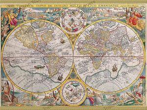 Vintage world map historical atlas background pattern edible icing image is loading vintage world map historical atlas background pattern edible gumiabroncs Images