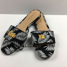 "192e065a22c item 3 Who What Wear Sloan Black and White Palm Slide ""See Ya"" Sandals  Women s Size 9 -Who What Wear Sloan Black and White Palm Slide ""See Ya""  Sandals ..."
