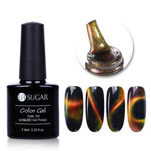 7-5ml-3D-Chameleon-Cat-Eye-Magnetische-Soak-Off-UV-Gellack-Gradienten-UR-SUGAR