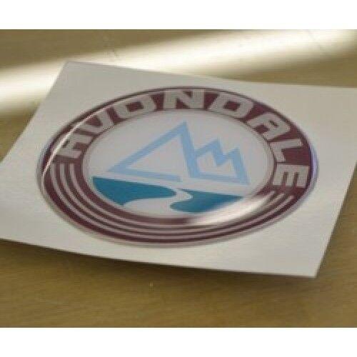 - /'Mountain/' Caravan Badge Sticker Graphic SINGLE RESIN DOMED AVONDALE -