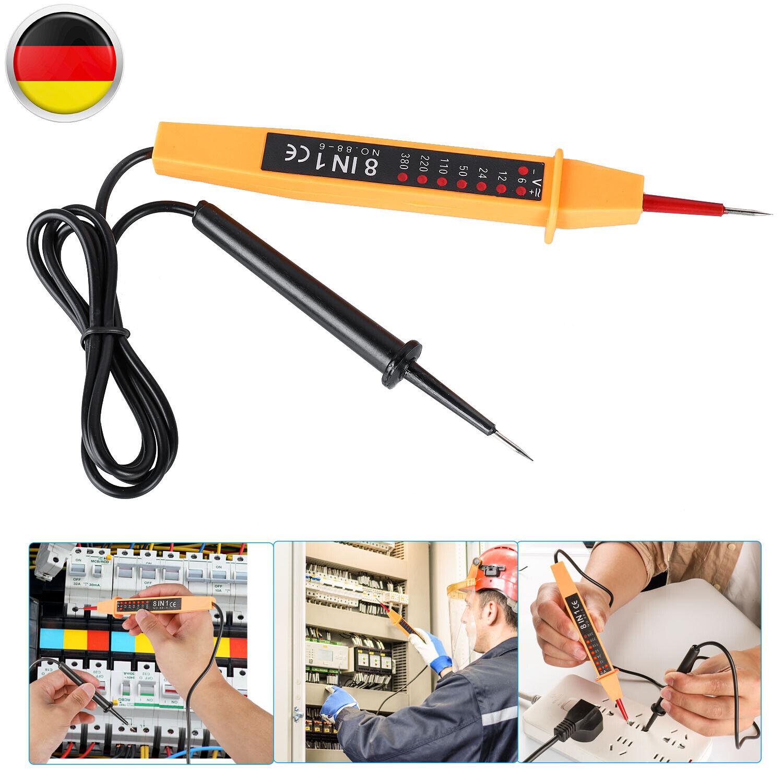 Spannungsprüfer Stromprüfer 6-380 Volt Stromtester Dioden Prüflampe AC//CD BGS
