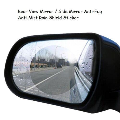 Rainproof Anti-Fog Rear view Mirror Side Sticker Protective Film Rain Shield 2pc