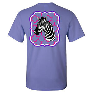 Southern-Charm-Zebra-on-a-Violet-Short-Sleeve-T-Shirt