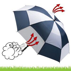 Deluxe-Golfschirm-Windcutter-blau-weiss-mit-Sturmgestaenge-aus-Fiberglas