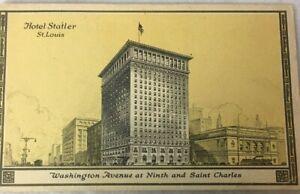 St-Louis-Mo-Hotel-Statler-Building-postcard-Washington-St-Charles-9th-Yellow