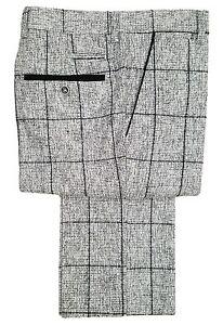 Hombre-Marc-Darcy-TWEED-CUADROS-Pantalones-de-vestir-Kristian-Gris
