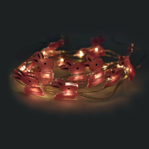 LED Battery Operated Bunny String Lights 80-Inch