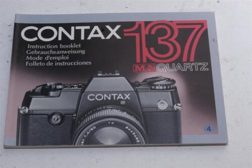 Contax 137 Quartz manual de instrucciones
