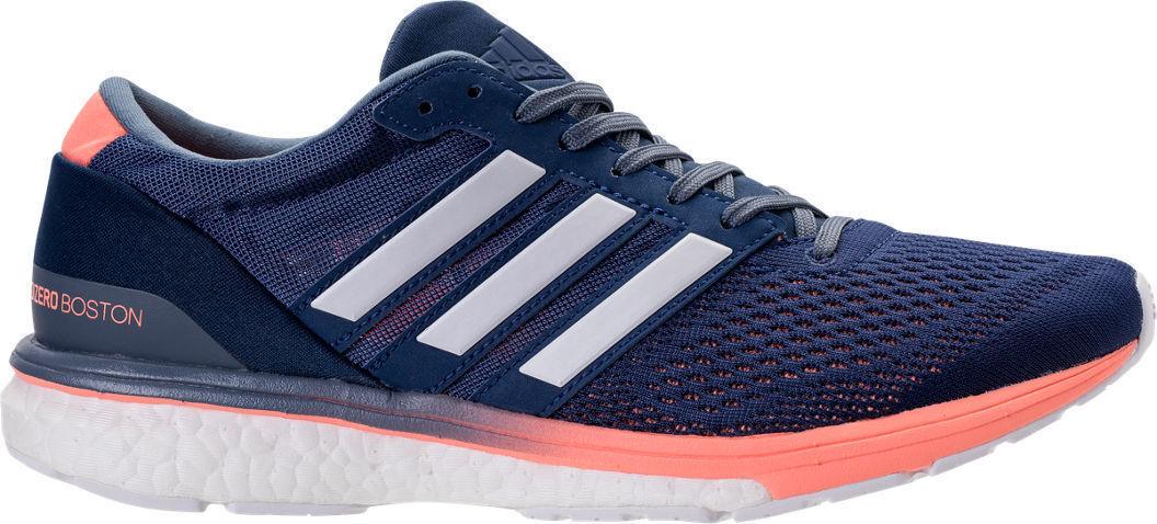 adidas Adizero Boston Running Shoes Noble Indigo/White/Raw Steel BB6418 size 8 best-selling model of the brand