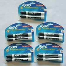 Expo 2 Pack Dry Erase Markers Intense Color Black Low Odor Ink Lot Of 5