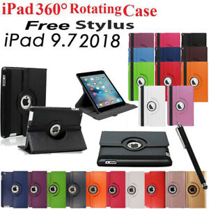 Fit-For-Apple-iPad-6th-Gen-2018-9-7-Case-360-Rotating-Smart-Stand-Cover-for-iPad