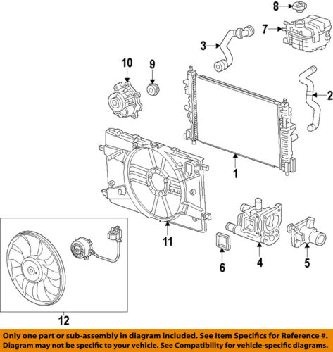 Chevrolet GM OEM Sonic-Radiator Coolant Overflow Tank Recovery Bottle 95048411