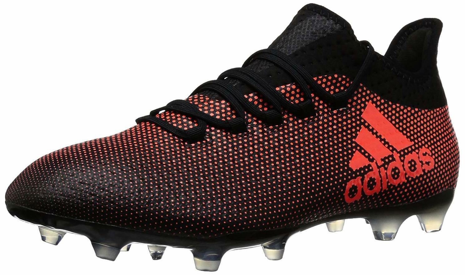 Adidas X 17.2 FG Soccer scarpe, grigio   Real Coral  Core nero, 7.5 M US  edizione limitata