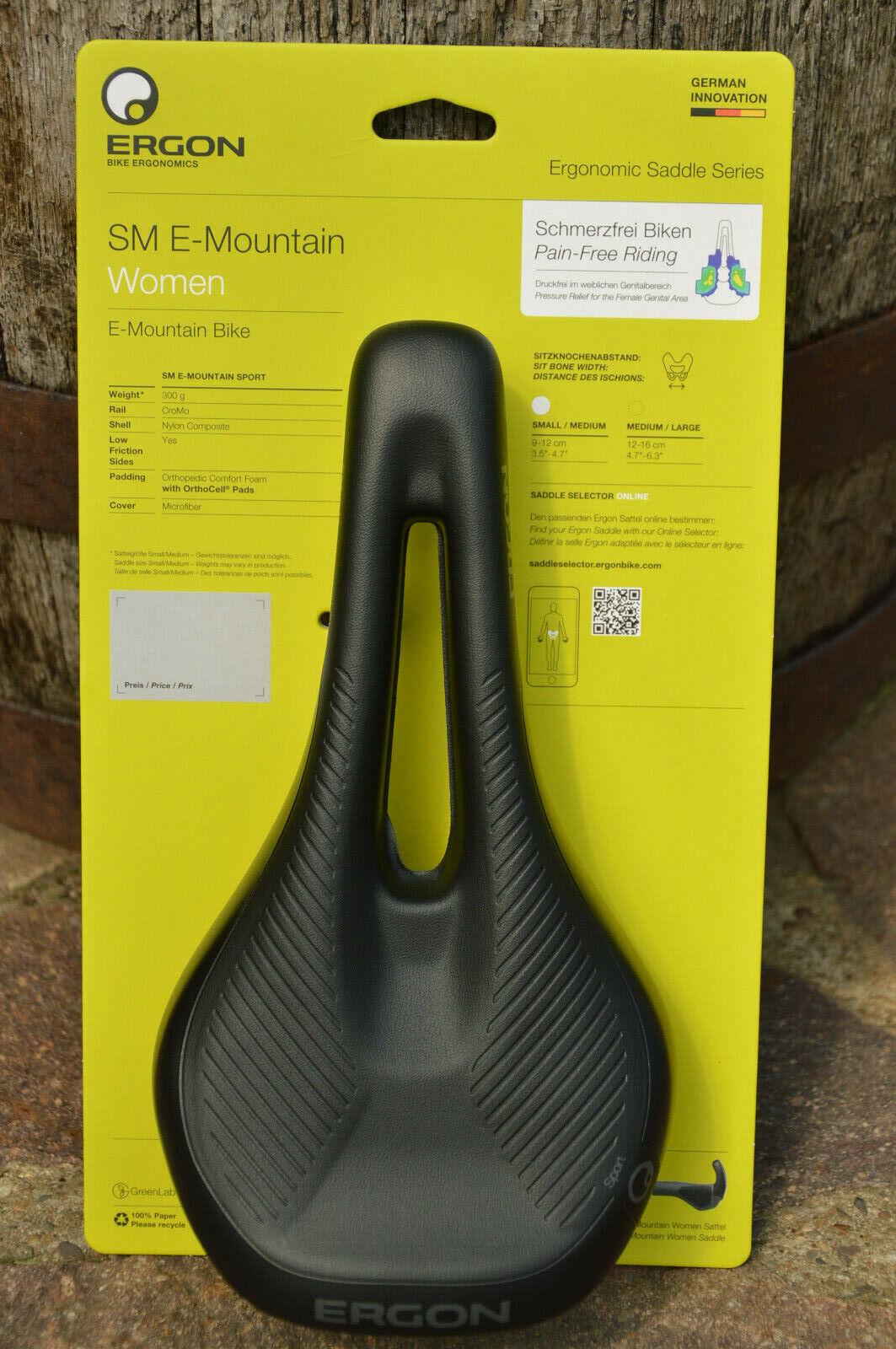 Ergon SM E-Mountain E-Bike señora confort sillín descargo canal negro, nuevo