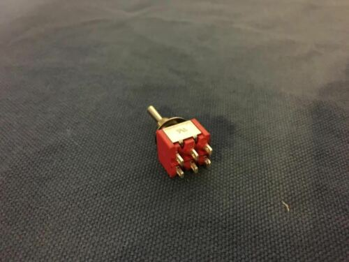 ON 6 pin 1//4 A5 3 pieces RED Waterproof Momentary Mini Toggle Switch -OFF- ON