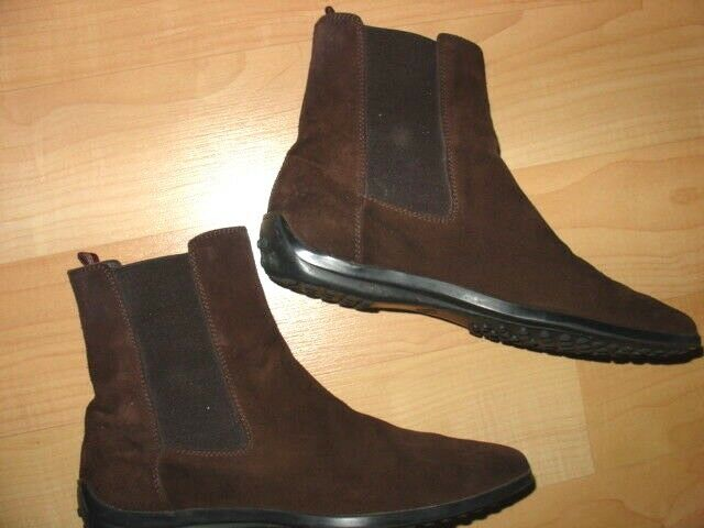 TOD'S BROWN SUEDE ANKLE BOOTS sz 6.5