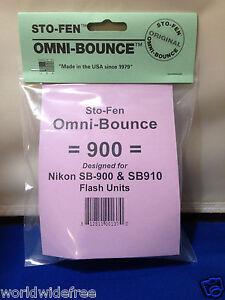 Sto-Fen Omni-Bounce 900 Diffuser f/Nikon SB-910 Flashes Stofen -Om-900