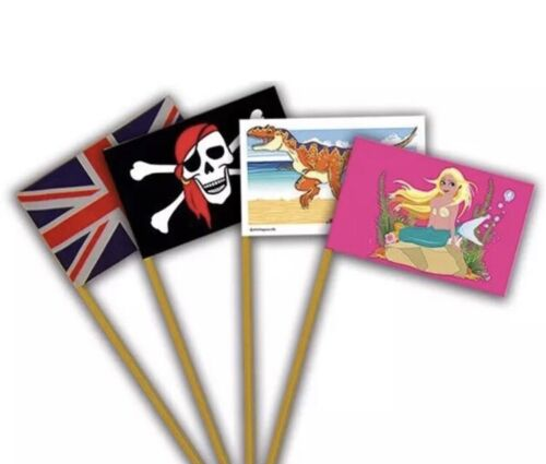 Sand Castle Flags X 8 Flags Fun Beach Sandcastle Decoration BNWT