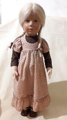 Ältere Käthe Kruse Puppe Undine 1980 52 Cm Großes Deutsches Kind