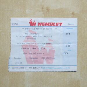 IRON-MAIDEN-Used-ticket-stub-Wembley-11-12-88-Seventh-Tour-Of-A-Seventh-Tour