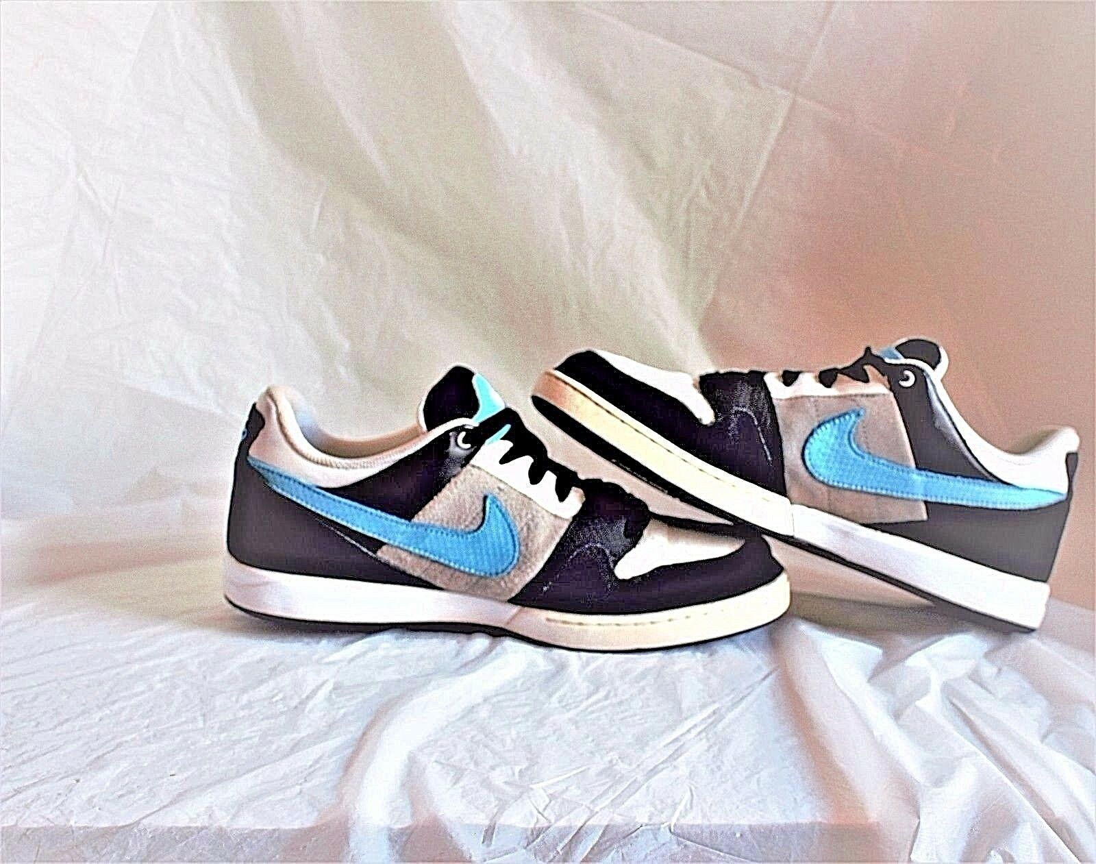 RARE Nike 6.0 Air Zoom Shoes Black/White/Turquoise size 10.5